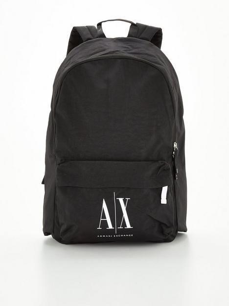 armani-exchange-icon-logo-backpack-black
