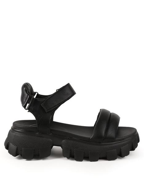 missguided-missguided-chunky-sole-padded-grandad-sandals-black