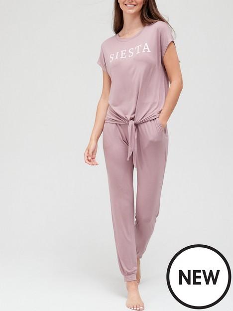 v-by-very-siesta-knot-front-pyjamas-mauve