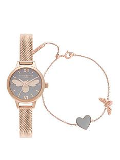 olivia-burton-olivia-burton-lucky-bee-mini-lucky-bee-grey-dial-rg-boucle-mesh-watch-you-have-my-heart-bracelet-giftset