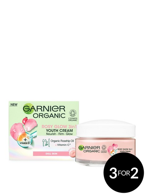garnier-organic-rosy-glow-3in1-youth-cream-50ml-radiant-and-glowing-skin-with-rosehip-seed-oil-and-brightening-vitamin-c-vegan-formula-for-all-skin-types