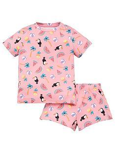 chelsea-peers-girls-puffin-print-shorty-pyjamas-pink