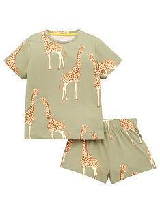 chelsea-peers-girls-giraffe-print-shorty-pyjamas-grey