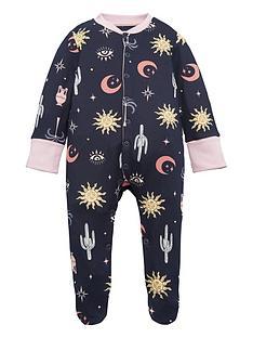 chelsea-peers-baby-girls-moon-amp-stars-sleepsuit-navy