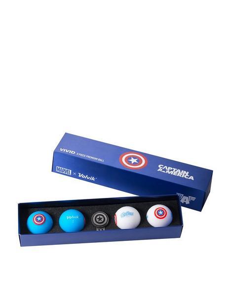 volvik-volvik-marvel-4-ball-marker-pack-captain-america