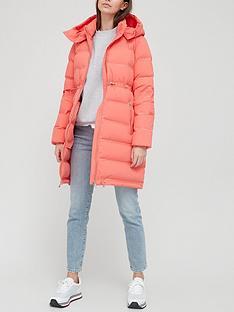 armani-exchange-longline-padded-coat-red