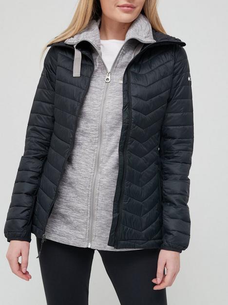 columbia-powder-pass-hooded-jacket-black