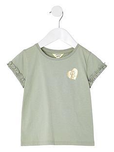 river-island-mini-girls-logo-ruffle-t-shirt--nbspgreen