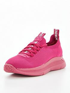 kg-kaker-knit-lace-up-trainers-fuchsia