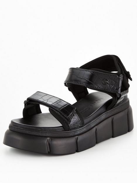 kg-rigged-wedge-sandal-black