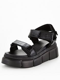 kg-rigged-wedge-sandal-black
