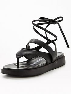 kg-ralley-flat-sandal-black