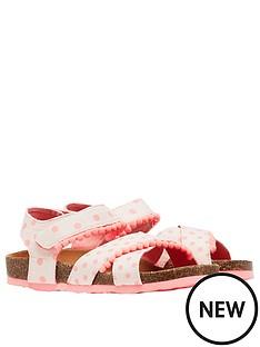 joules-girls-tessie-spot-pom-pom-cross-strap-sandals-pink