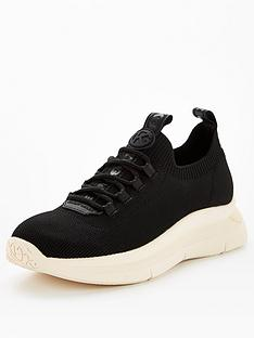 kg-kaker-knit-lace-up-trainer-black