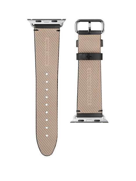 native-union-genuine-leather-classic-strap-for-apple-watch-44mm-black