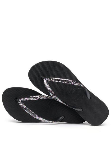 havaianas-slim-flatform-glitter-flip-flop--nbspblack