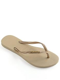 havaianas-slim-metallic-logo-flip-flop--nbsprose-gold