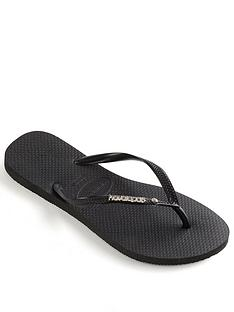 havaianas-slim-metal-logo-and-crystal-flip-flop--nbspblack