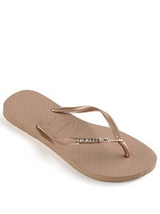 havaianas-slim-metal-logo-and-crystal-flip-flop--nbsprose-gold