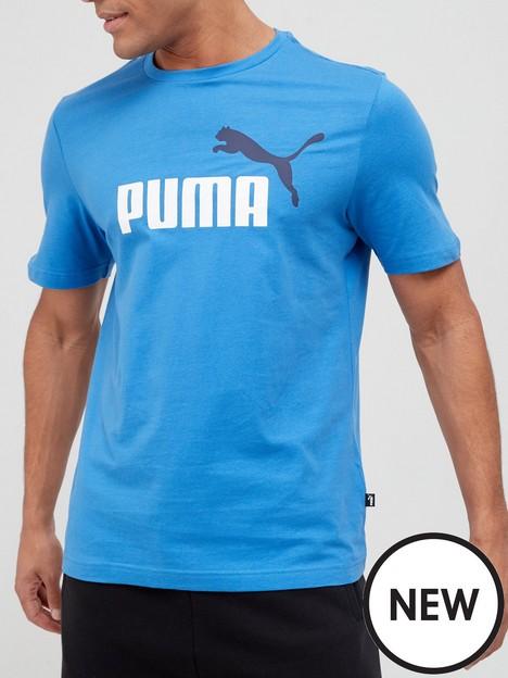 puma-essentials-2-colour-logo-t-shirt-blue
