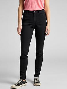 lee-scarlettnbspskinnynbsphigh-waist-jean-black