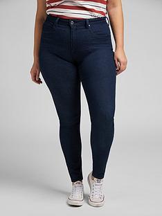 lee-plusnbspivy-supernbspskinny-super-high-waist-jean-dark-wash-blue