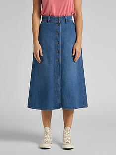 lee-button-through-long-skirt-mid-wash-blue
