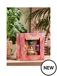 prod1090175014: Yankee Candle 1 Small Jar And 3 Votive Candles Giftset