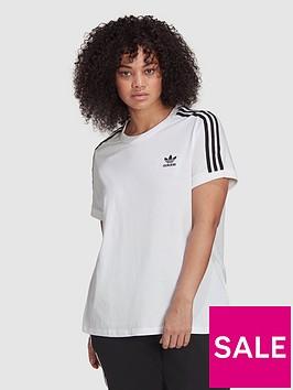 adidas-originals-3-stripes-tee-plus-size-white