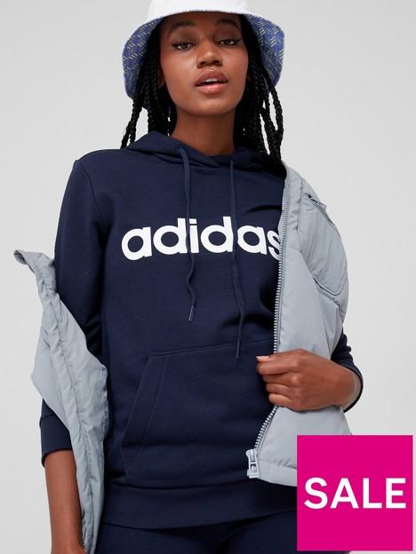 adidas-essentials-linear-hoodie-navywhite