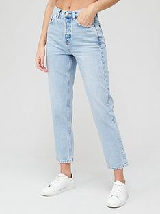 v-by-very-shortnbsppremium-high-waist-straight-jean-bleach-wash
