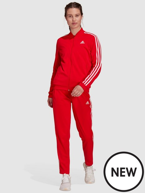 adidas-essentials-3-stripes-tracksuit-redwhite