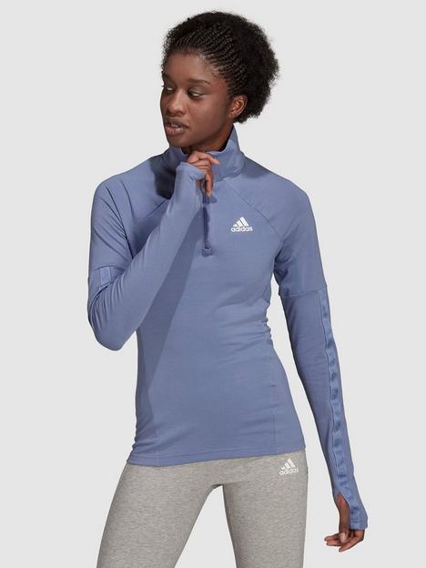 adidas-motion-half-zip-long-sleeve-tee-violet