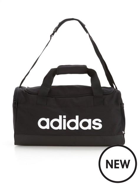 adidas-essentials-linear-duffel-bag-blackwhite
