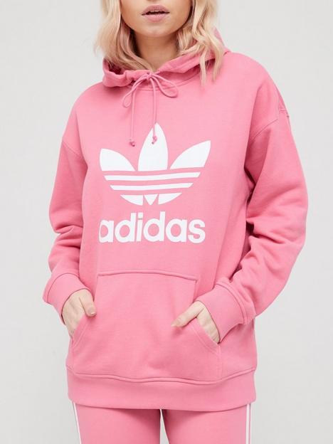 adidas-originals-trefoil-hoodie-rose