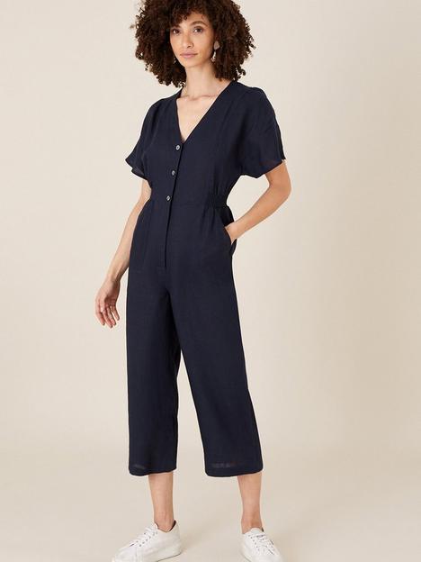 monsoon-poppy-linen-plain-jumpsuit-navy