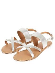 monsoon-leather-crossover-metallic-sandal-silver