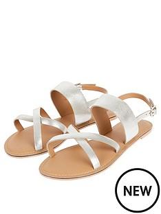 monsoon-leather-crossover-metallic-sandal-silver