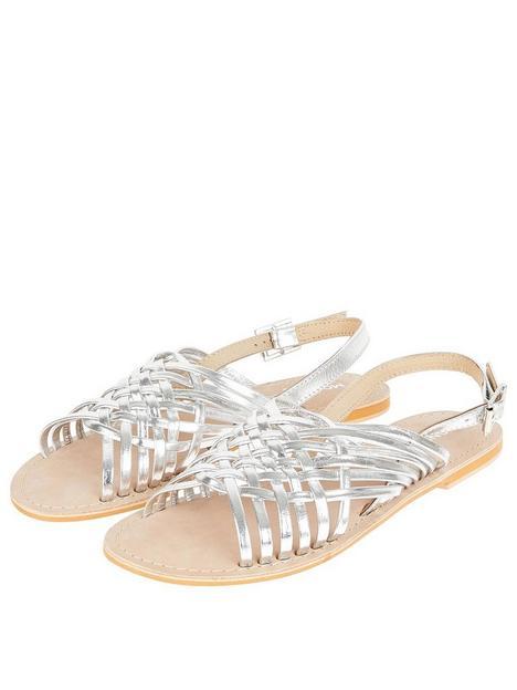 monsoon-metallic-weave-leather-sandal-silver