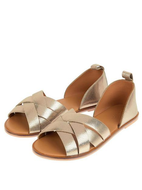 monsoon-covered-leather-crossover-sandal-gold