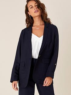 monsoon-linen-smart-longline-jacket-navy