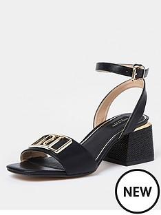 river-island-wide-fit-branded-two-part-sandal-black