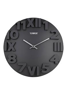 tower-infinity-stonenbspwall-clock-slate-grey