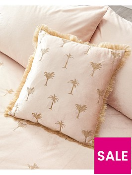 palm-embroidered-cushion