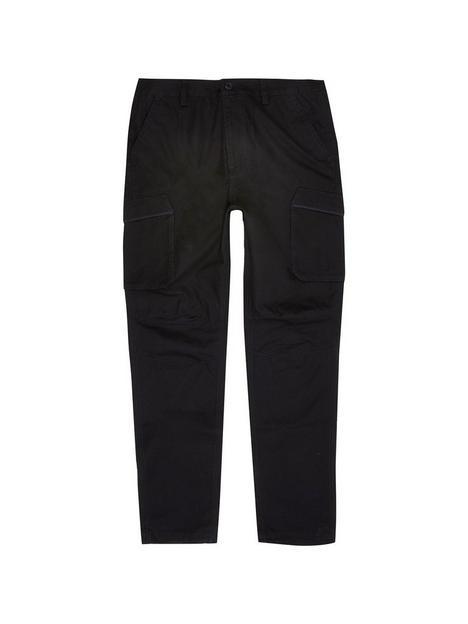 river-island-big-tall-utility-trousers-black