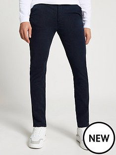 river-island-casual-chino-navy