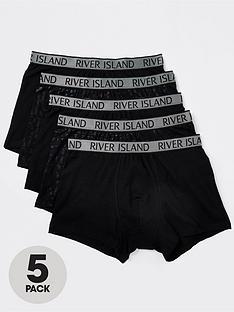 river-island-rinbspfoil-river-monogram-5-pack-trunk-black