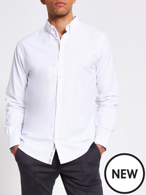 river-island-long-sleeve-oxford-shirt-white