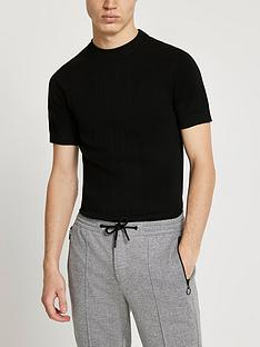 river-island-short-sleeve-t-shirt-black
