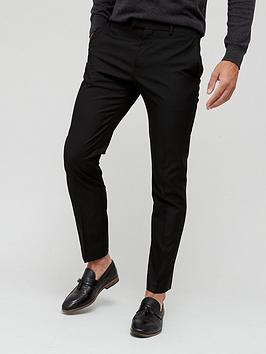 river-island-skinny-fit-twill-suit-trousers-black